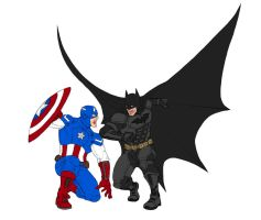 Marvel Vs. DC: Captain America/Batman by DHK88