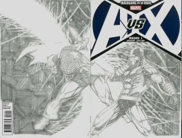 Avengers vs X-men Sketch Variant by Ace-Continuado