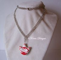 Mask of Truth Hand Sculpted Pendant Zelda OOAK by TorresDesigns
