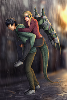 Commission: Draco and Kimihito by manu-chann