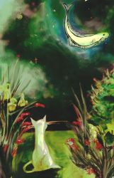 How a Cat Sees the Moon by AgnesPterry