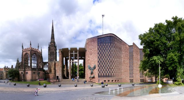 Coventry Cathedral Old and New by s-kmp