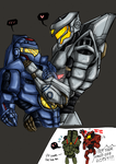 Gipsy Danger x Striker Eureka by DavidRiki