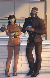 T'Var And Solomon.One Morning In 2272 by StalinDC