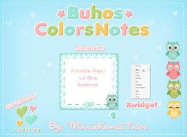 Buhos Colors Notes For Xwidget by MinnieKawaiiTutos
