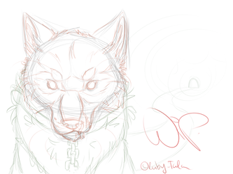 WIP: Wolf (No name yet) by Ruby-Talon
