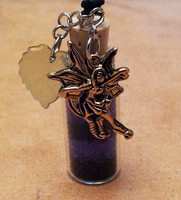Purple Fairy Bottle Charm Commission by OllyChimera