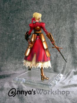 Saber back view with armor by annya12345