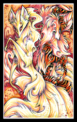 Fire Dogs by IceandSnow