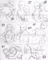 ACEO YCHs 36 through 43 Two ALL CLAIMED by nickyflamingo