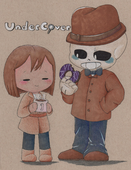 UnderCover Sans and Frisk by Mustache-Broz1