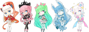 Gijinkas | customs 5 by kawaii-antagonist