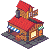 Isometric Shop by nicorachi