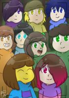 Colorful Smiles - Glitchtale by PurelyDreams