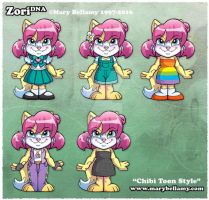 ZoriDNA chibi costumes by MaryBellamy