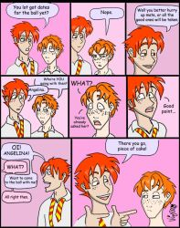 Fred Weasley on the Yule Ball by Shmivv