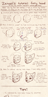 Zengel's tutorial - furry heads. by Zengel