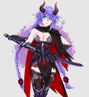 Purple Heart in Monster Hunter by Expired-Nep-Bull