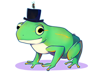 Patreon Commission: Frog and Fly with a Top Hat by JaidenAnimations