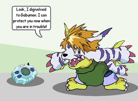 Digimon Surprise - Gabumon TF by plushdragon