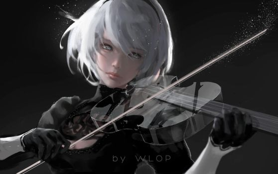 Silence by wlop