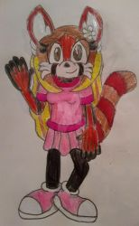 Gwen the Red Panda by Erik-the-Okapi