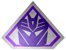 Brushed metal Ultra Decepticon Shield by KalEl7