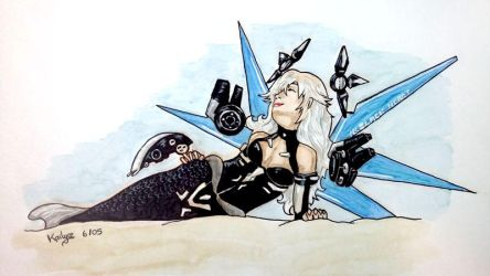 Lady Black Heart Mermaid by Kailyce