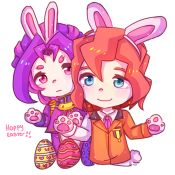 Easter Bunnies by PastaEater27