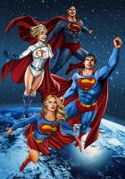 Helen Slater,Heather Graham and Christopher Reeve by hamletroman