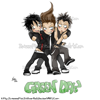 Green Day Chibi by IwannaPissInYourBed