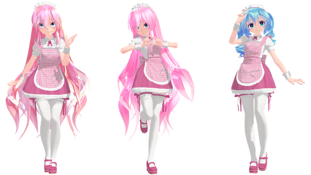 MMD: TDA Maid Luka and Miku (Child Version) by K-Manoc1