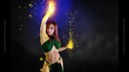 Jade Wizard Cosplay Commission 01 by Bastetsama-Cosplay