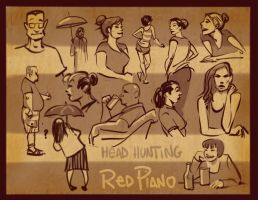 Head Hunting at Red Piano by scratchmark