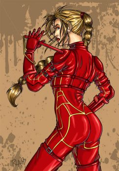 Mord-Sith Cara - Colored by amano001