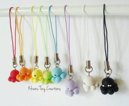 Baby Octopus Charms by kikums