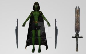 Gamora / All New All Different (MFF 3D Model) by Pitermaksimoff