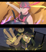 Pokemon- Pokeburst AU (Screenshots Set 4) by Gameaddict1234
