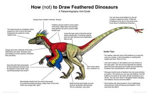 How (not) to Draw Feathered Dinosaurs by Osmatar