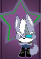 Chibi Wolf O'Donnell by BlackWingedHeart87