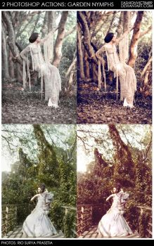 Garden Nymphs - 2 Photoshop Actions by FashionVictim89