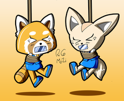 Retsuko and Fenneko by Ricomozi