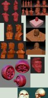 my zbrush trainings by estivador