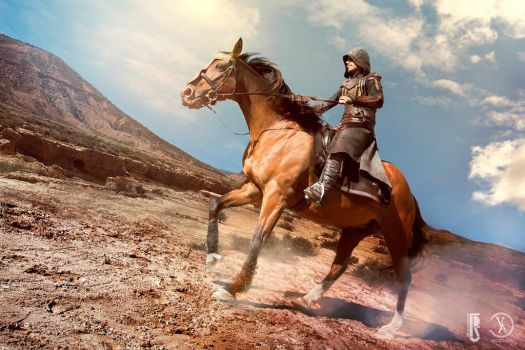 AC movie - Aguilar cosplay costume riding a horse by RBF-productions-NL