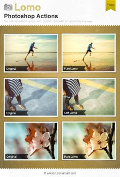 Lomo Photoshop Actions by Wnison