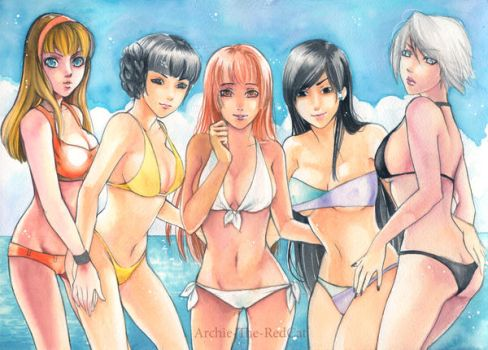 Summer Paradise by Archie-The-RedCat