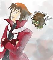 I: Judai and Winged Kuriboh by SophiePf