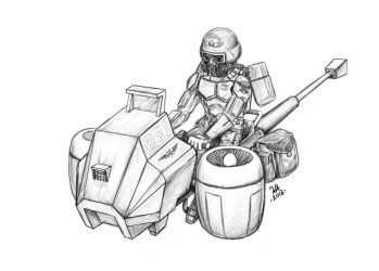 Imperial Guard Jetbike by Dr-Destruction