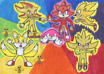 Sonic Super Character Forms by Tails--the--Fox