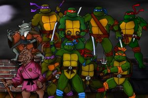 TMNT - Turtles Forever - Group Picture by Vlcek222